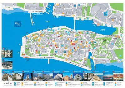 Zadar térkép